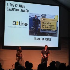 Franklin receiving award
