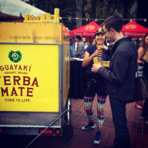 Handing out guayaki